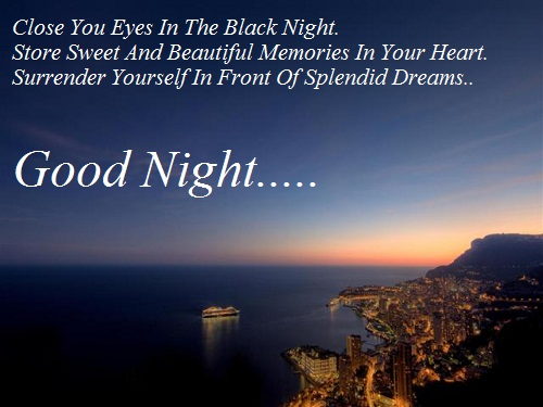 Good Night Quotes For Special Friend : Romantic good night messages lover
