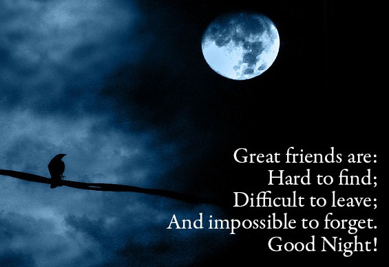 Good Night Quote For Special Friend : Good night sms for friends text short messages