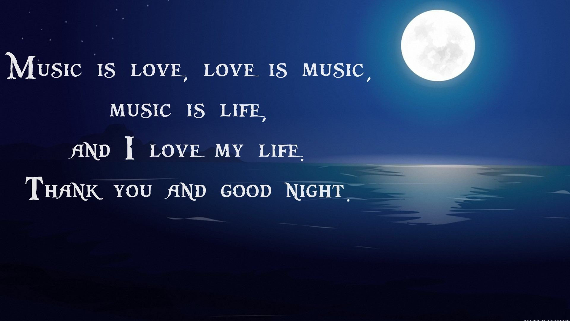 Wallpaper Good Night Love You : Good Night Wallpapers HD with quotes and Wishes