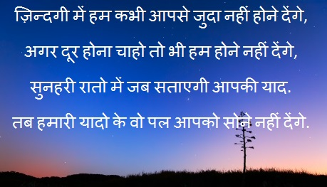 Good Night Sms Shayari Image Good Night Sms in Hindi For
