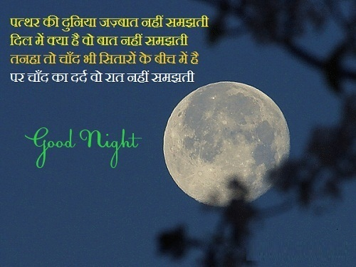Good Night Sms Shayari Image Good Night Sms in Hindi Images